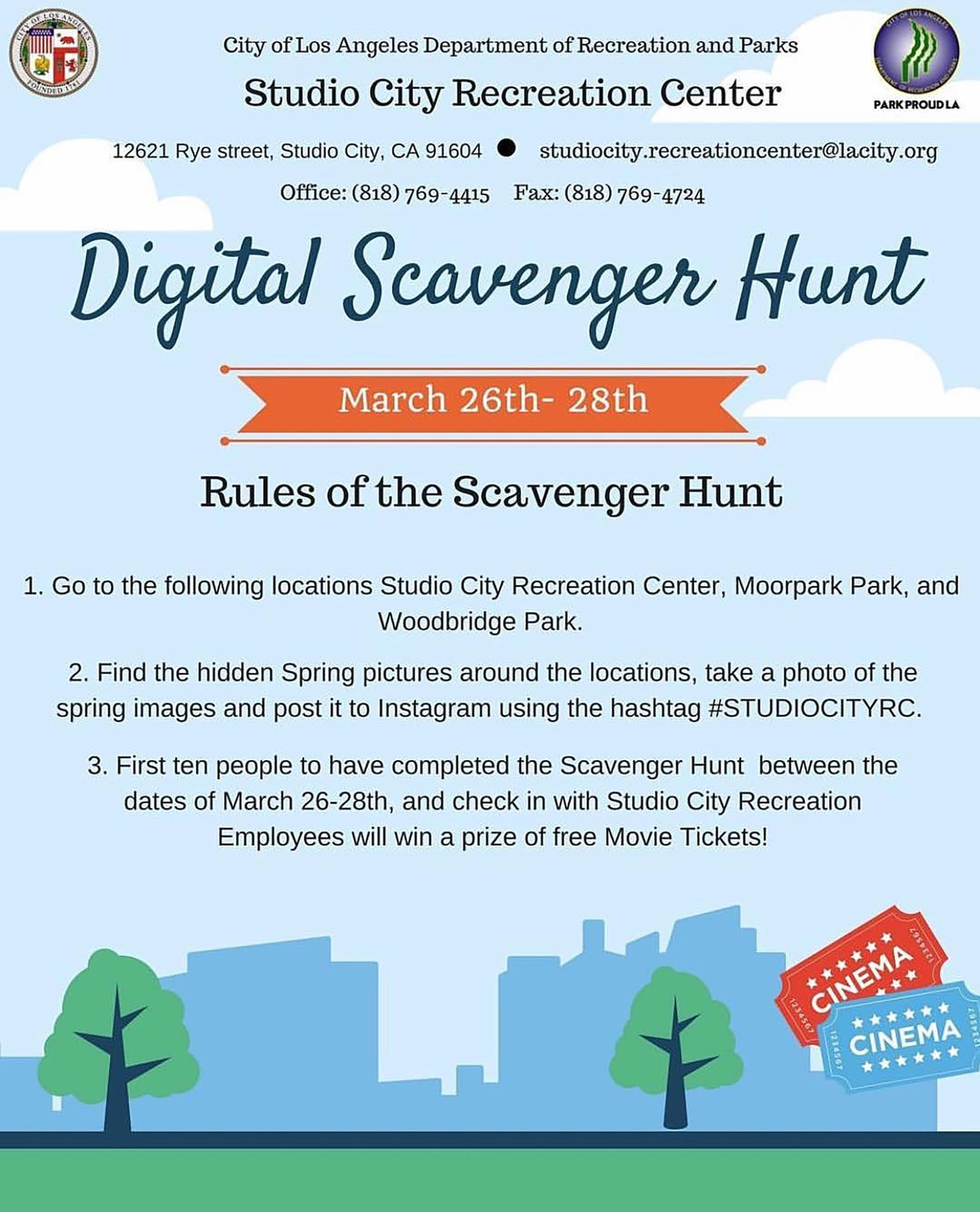 Digital Scavenger Hunt - Toluca Lake Magazine