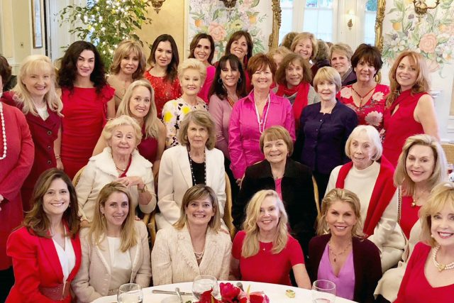 Garden Club Celebrates Valentine's Day With Heart