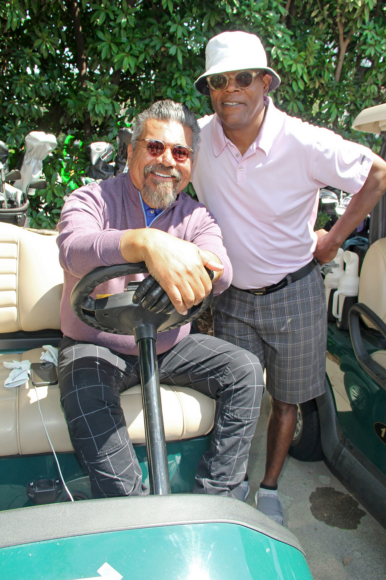Golfing For A Great Cause: George Lopez and Samuel L. Jackson