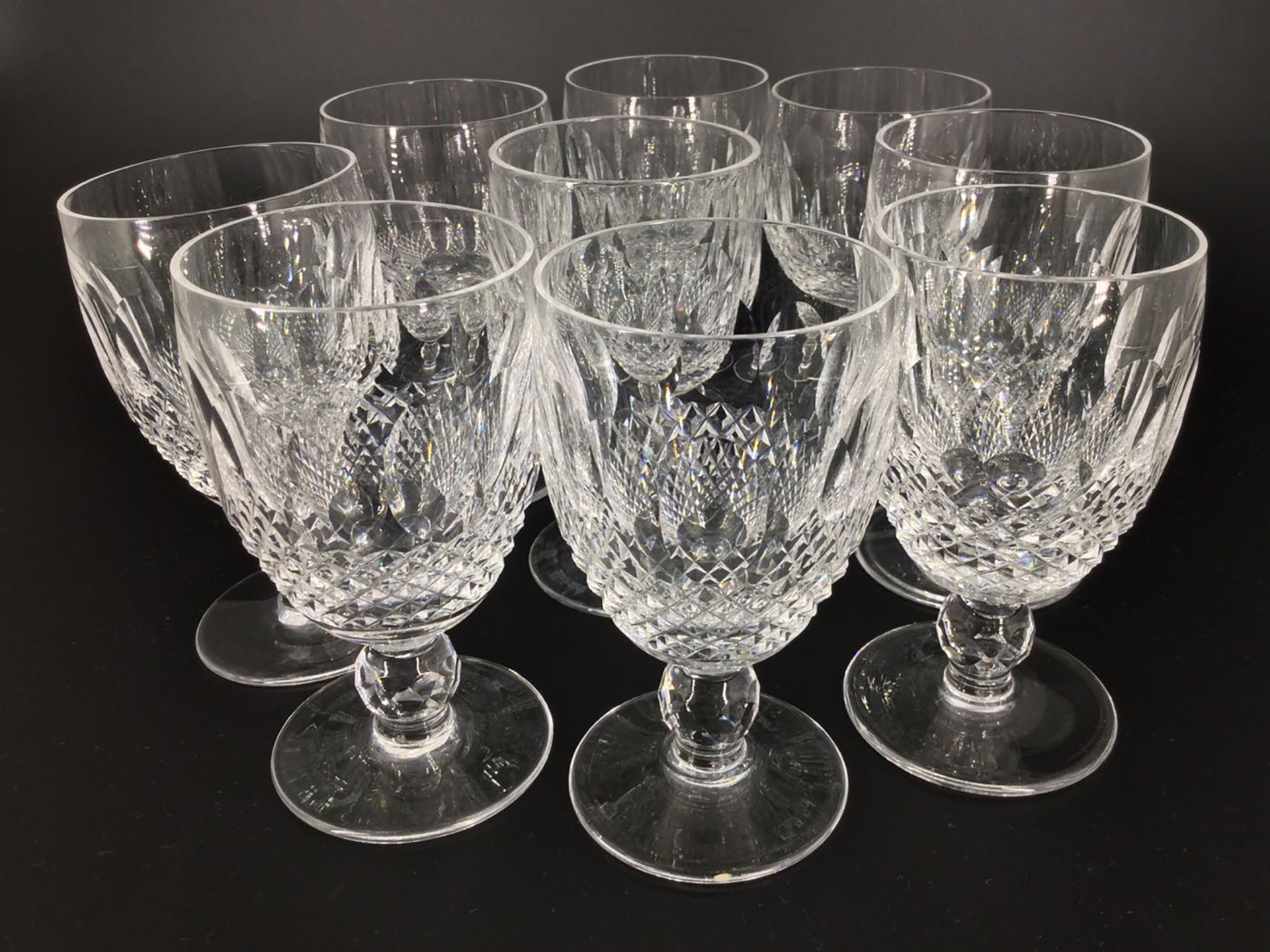 the-history-heritage-and-timeless-heirlooms-of-harry-p-archinal-16-waterford-crystal-sherry-glasses